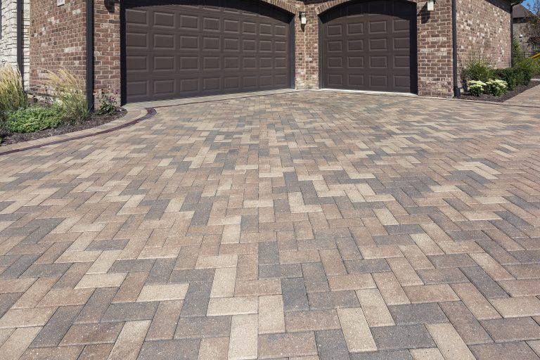 Unilock driveway installed with Hollandstone paver